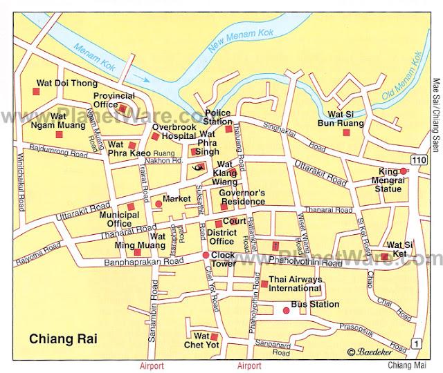 Resultado de imagen de chiang rai map