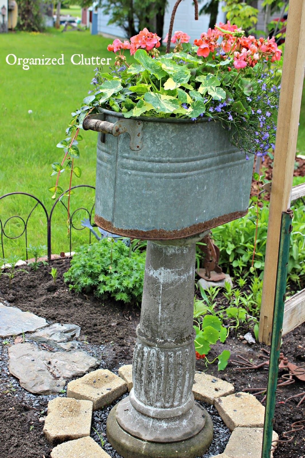 How To Add Vertical Interest to the Flower Garden   Organized Clutter