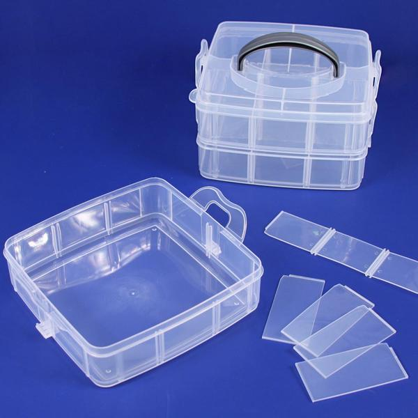 Shop Frosted Plastic 3 Layer Storage Box at Nile Corp