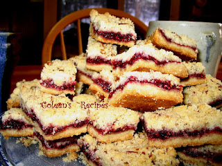 RASBERRY SHORTBREAD BARS