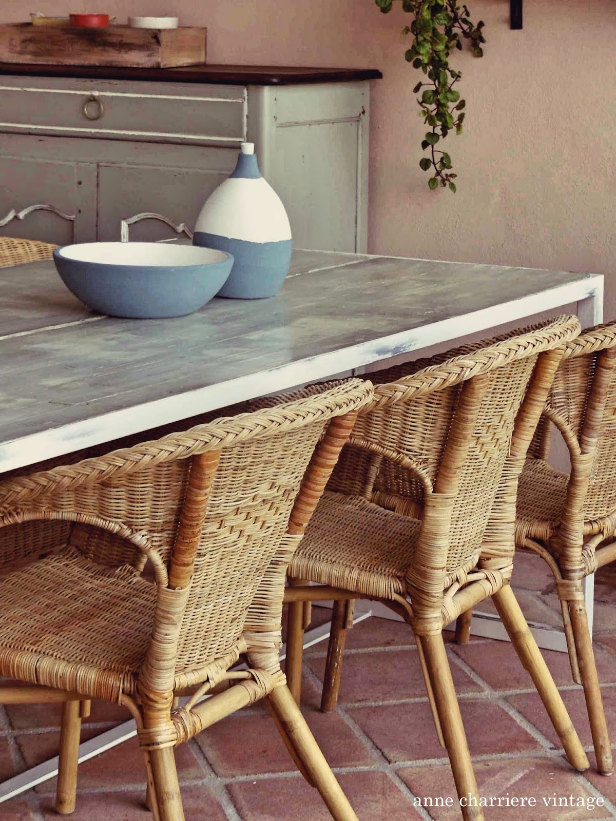 anne charriere vintage, madriers pour table terrasse,