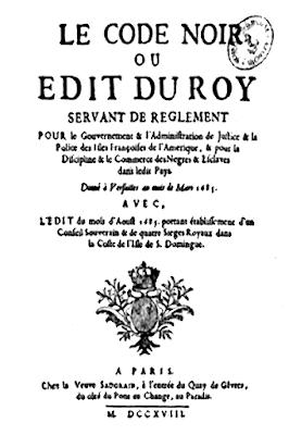 Le Code Noir fut institué par Louis XIV pour réglementer l'esclavage