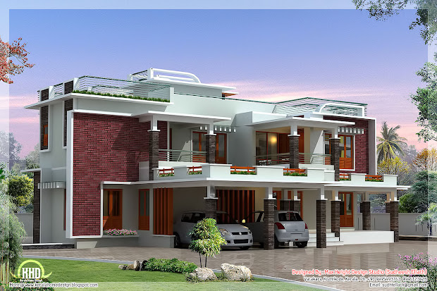 4500 Sq.feet Modern Unique Villa Design Kerala House