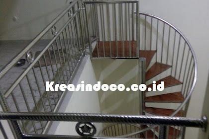 Tangga Putar Stainless Trap Kayu Kamper