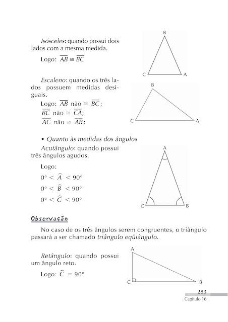 Classificação dos triangulos