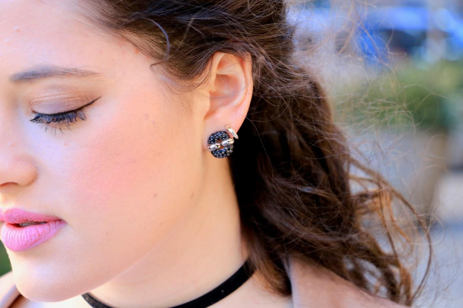 john hardy black earrings
