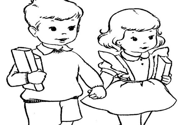 Mewarnai Gambar Anak Sekolah