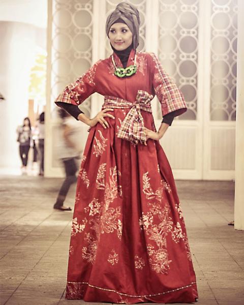 model baju vintage muslimah