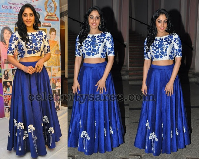 Regina Cassandra Blue Crop Top