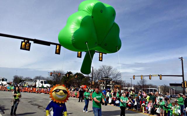Shamrock ballon at Dublin's St. Patrick's Day Parade #IrishisanAttitude #SoDublin