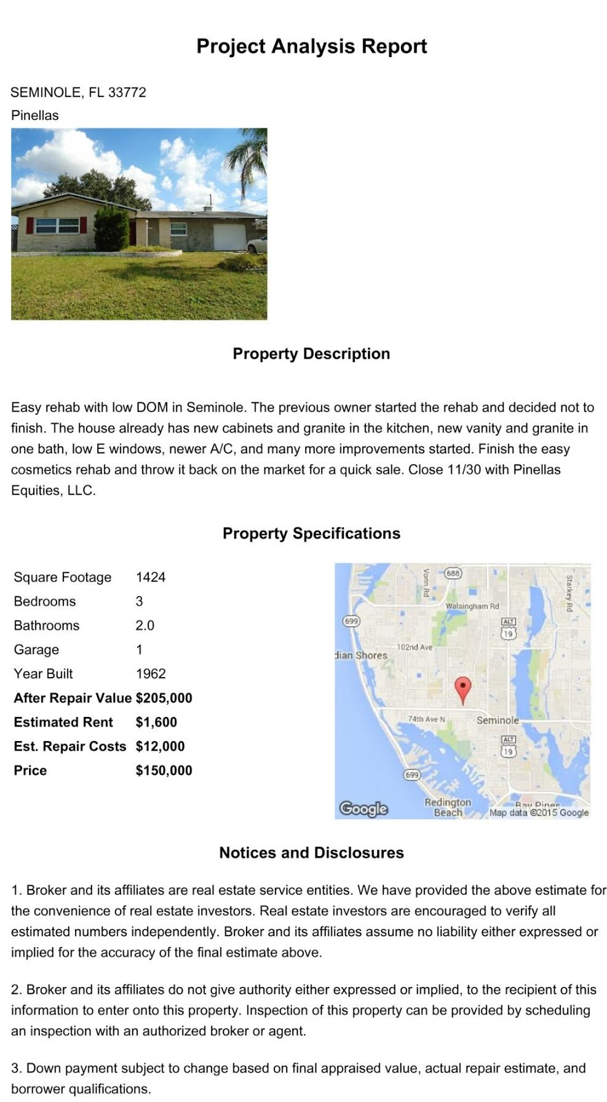 American Wholesale Property: Seminole Wholesale deal