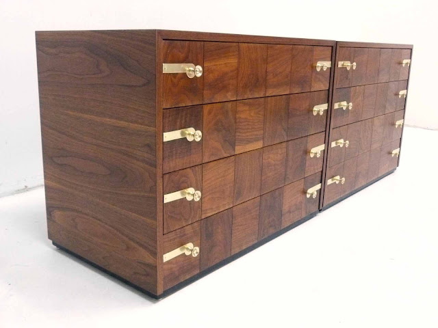 Renzo Rutili for Johnson Furniture Hollywood Regency Dresser Chests 4