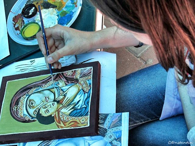 """Tabara""""Micii mesteri din Copou"""" - atelier picturã icoane pe lemn - blog FOTO-IDEEA"""