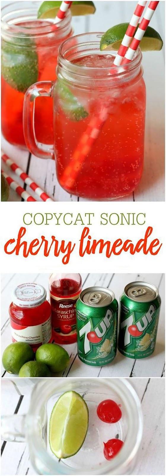 Copycat Sonic Cherry Limeade Recipe