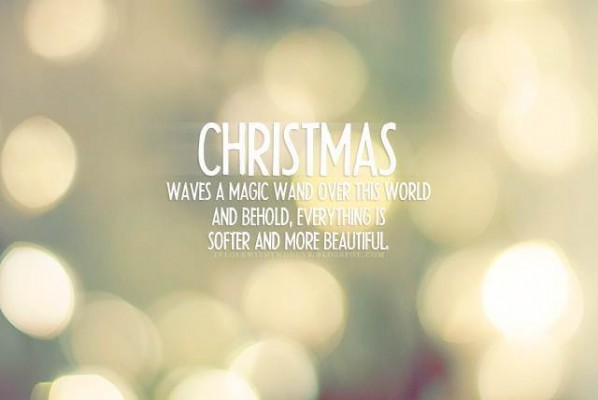 Christmas Waves A Magic Wand Over This World And Behold