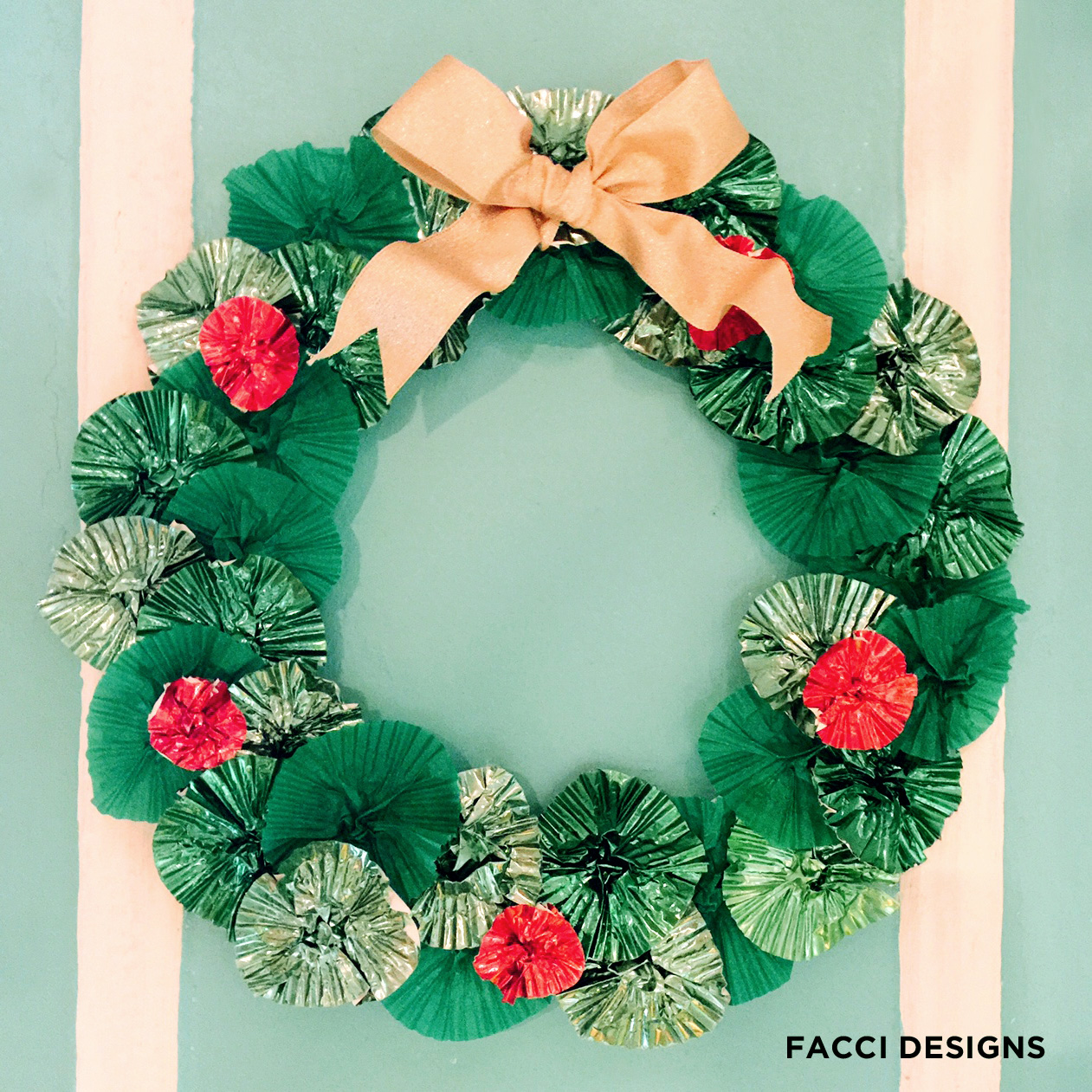 Facci designs diy how to make a cute cupcake wrapper Making wreaths