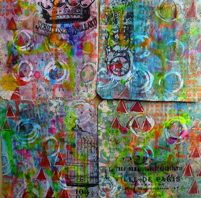 #365somethings2018 with StencilGirl® Stencils by Frieda Oxenham