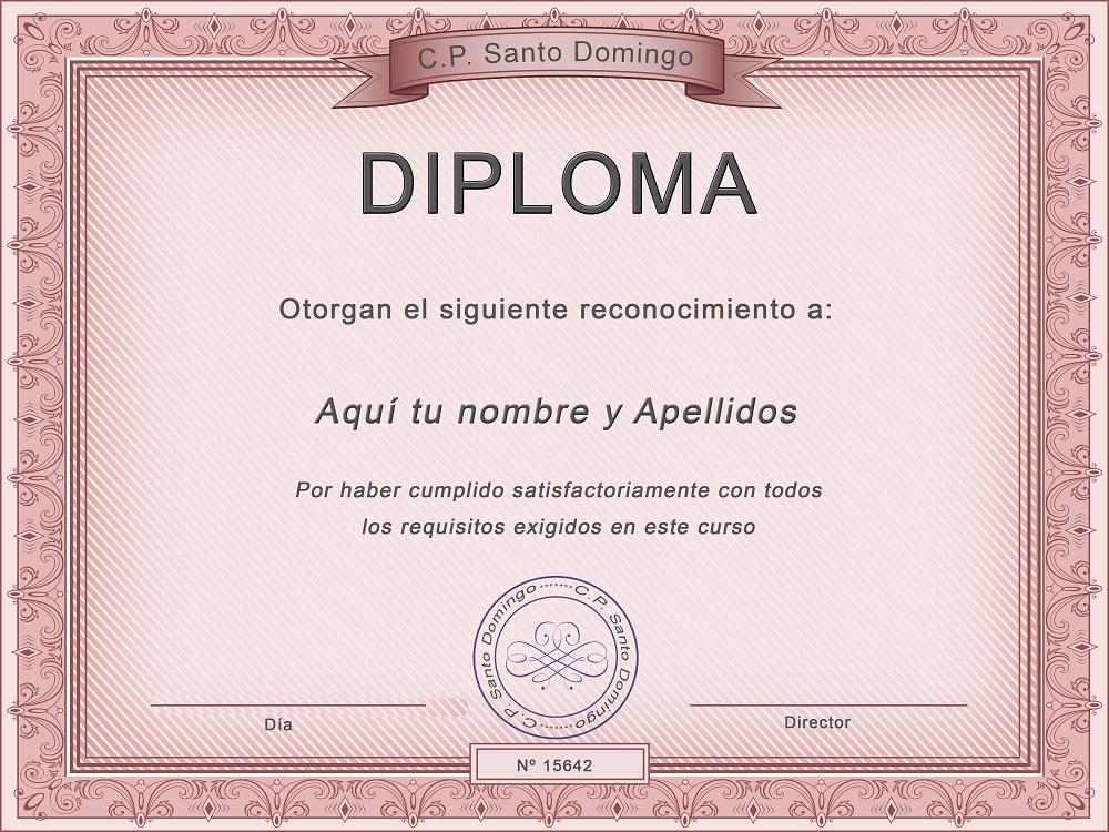 Plantilla psd para crear Diploma No14