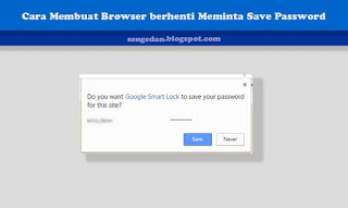 Cara Membuat Browser berhenti Meminta Save Password