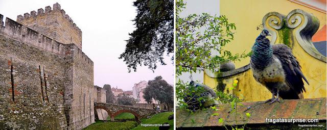 Ponte sobre o fosso do Castelo de São Jorge, Lisboa