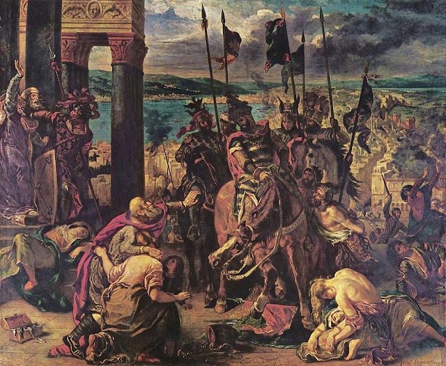 The Entry of Crusaders into Constantinople, oleh Delacroix