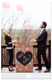Chalkboard Paint Gender Reveal Box | The Magic Brush