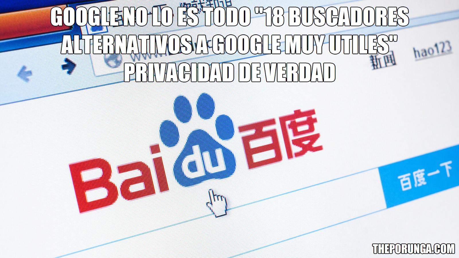 """Google no lo es todo """"18 Buscadores alternativos a google muy utiles"""" privacidad de verdad"""