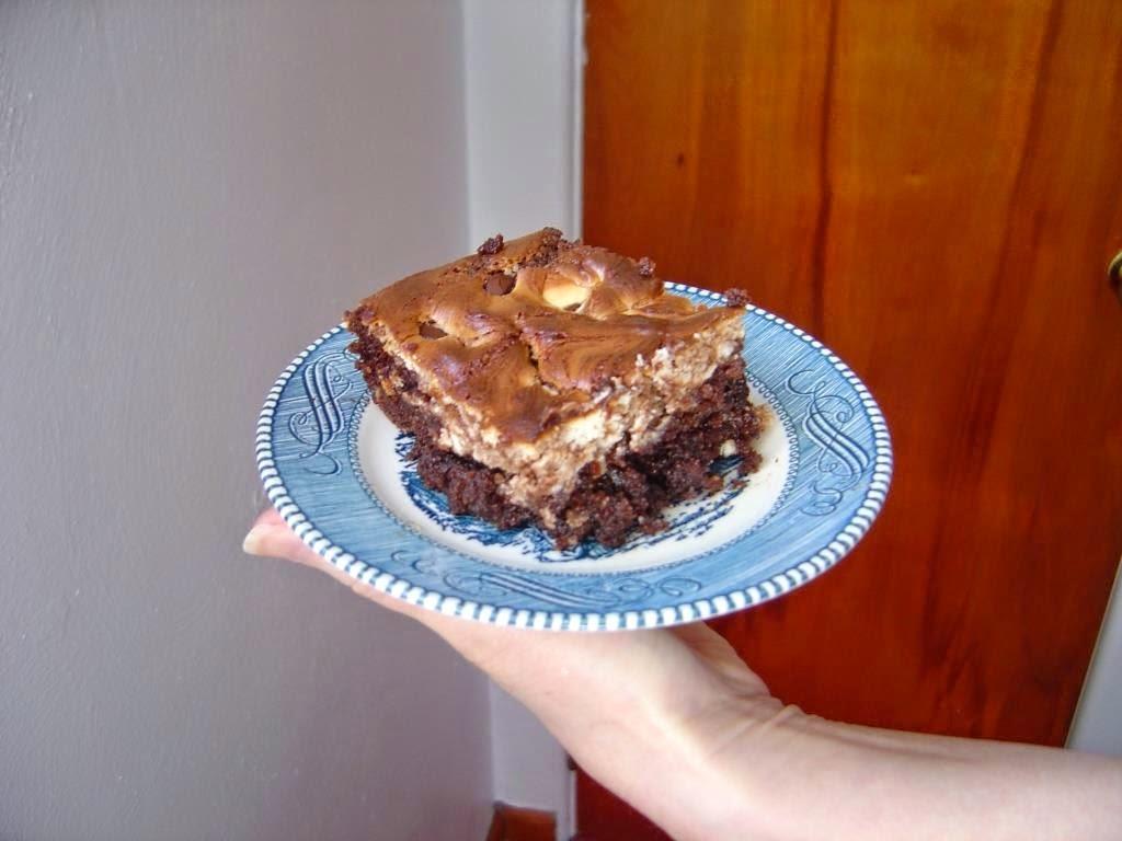 my Almond Marble Chocolate Cheesecake bar