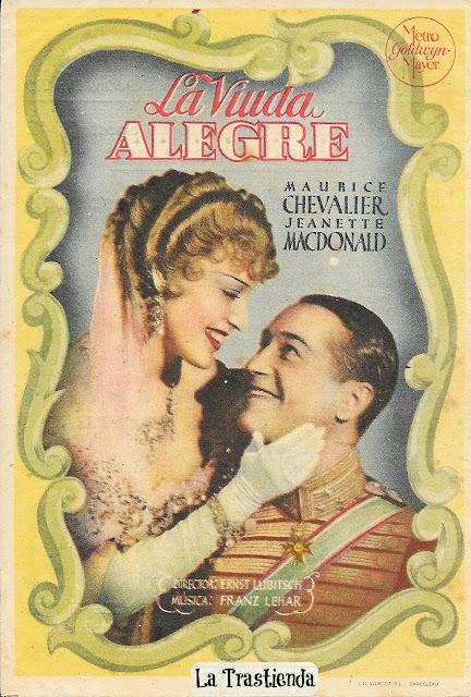 Programa de Cine - La Viuda Alegre - Maurice Chevalier - Jeanette MacDonald
