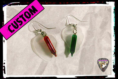 Holiday Lights Guitar Pick Earrings!