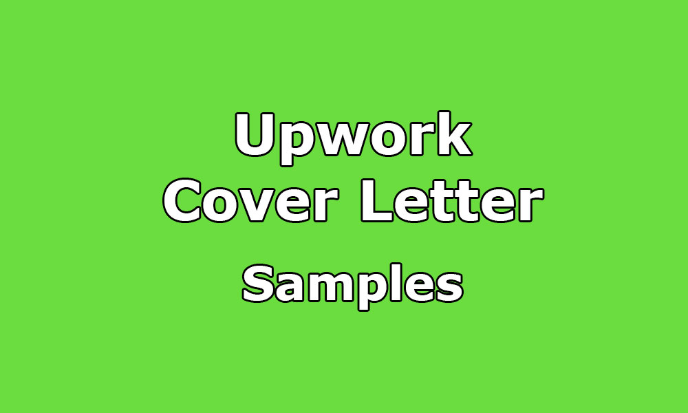 Upwork Cover Letter Samples  Help With Cover Letter
