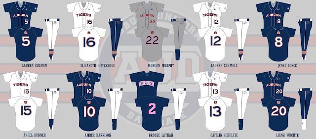 auburn softball uniform 2012