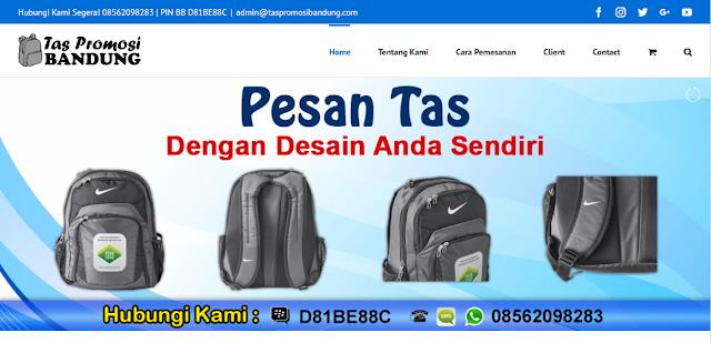 Jasa Pembuatan Tas Terpercaya via www.taspromosibandung.com