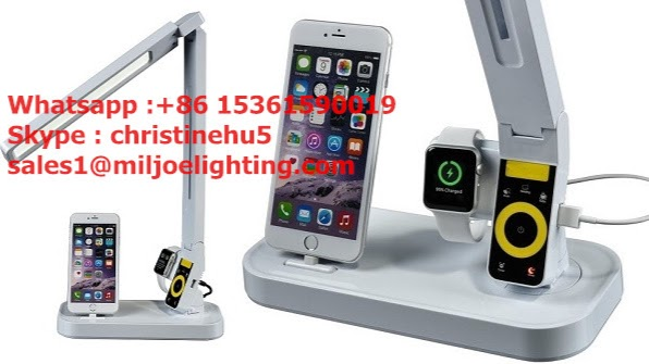 desk lighting solutions. Miljoe Lighting -- LED Desk Lamp With Charging Dock For IPhone \u0026 Apple Watch And USB Port IPad Solutions S