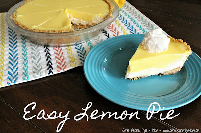 Easy Lemon Pie - perfect and simple pie to bring to any spring or summer event #PiDay
