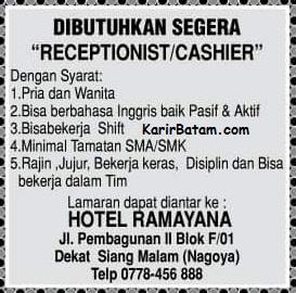Lowongan Kerja Hotel Ramayana
