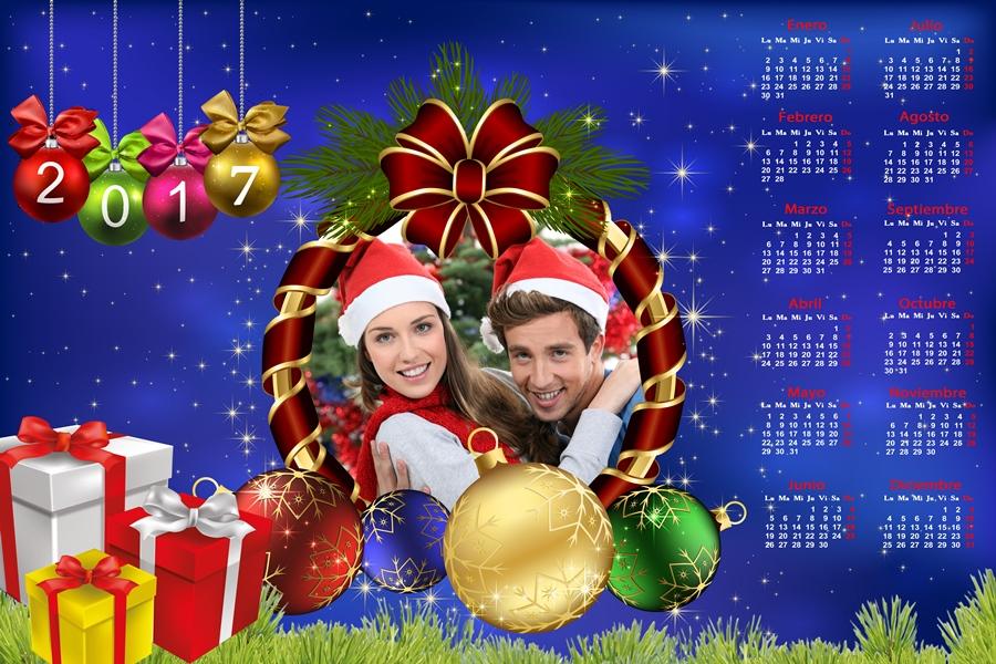Recursos Photoshop Llanpac Calendario del 2017 de Navidad para