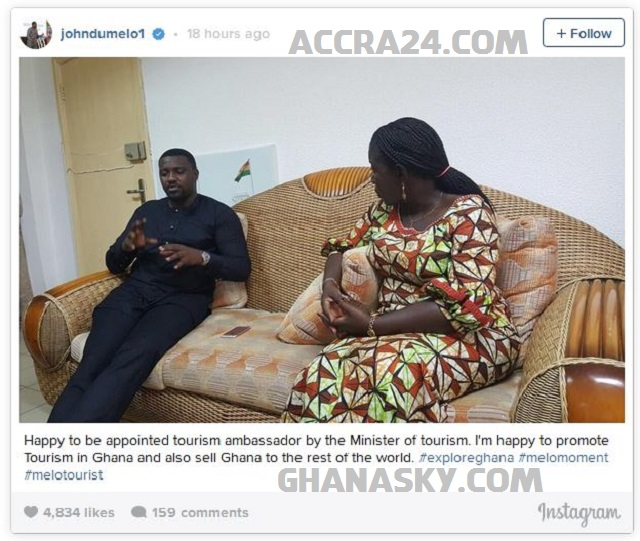 John Dumelo appointed as Tourism Ambassador of Ghana