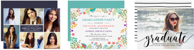 shop popular graduation invitation party invitations