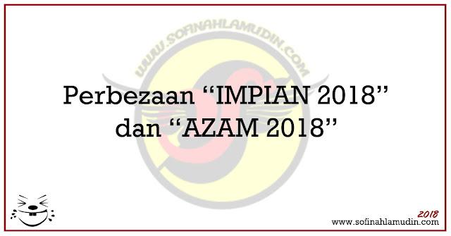 Perbezaan Impian 2018 dan Azam 2018 - Sofinah Lamudin