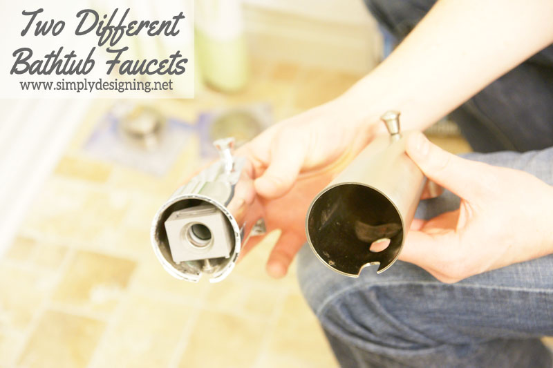 Two Different Bathtub Faucets | #diy #bathroom #bathroomremodel #remodel