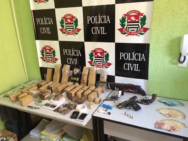 Operação da Dise com apoio Guarda Civil equipe de ROMU prende dupla que chefiava tráfico de drogas em Sorocaba