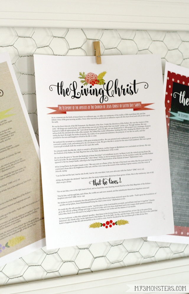 This is a picture of Bright The Living Christ Free Printable