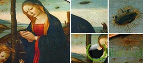 Lukisan 'The Madonna with Saint Giovannino' (Akhir 1400-an SM)