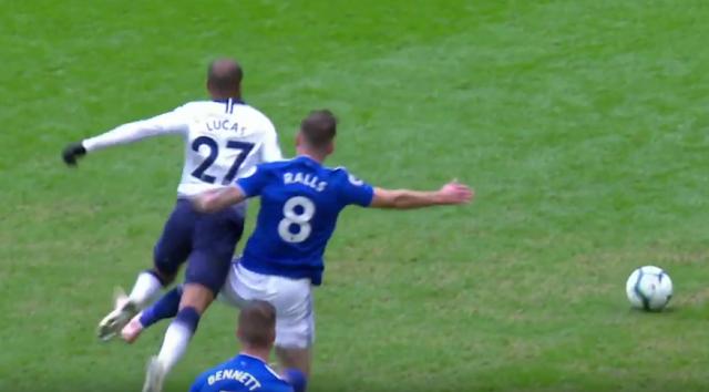 Joe Ralls red card slide tackle vs Tottenham