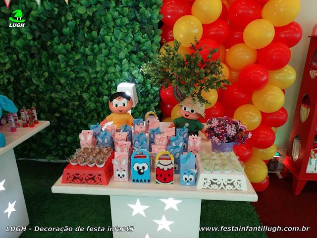 Mesa provençal infantil Turma da Mônica
