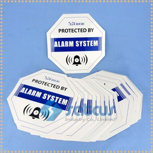 Alarm sticker printing