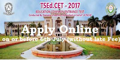 TS EdCET 2017 Notification
