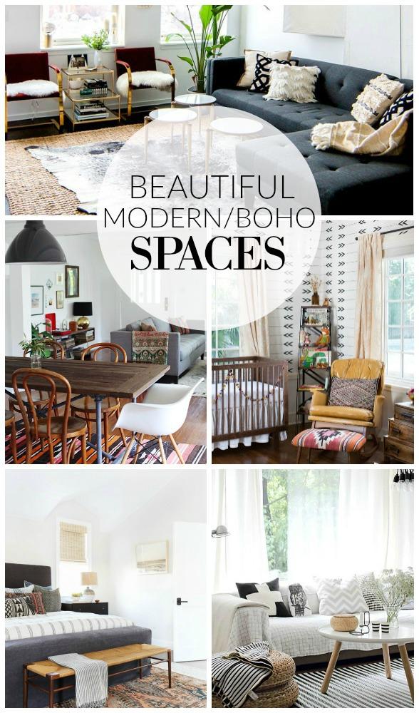 Mood Board Modern Boho Living Room  Little House of