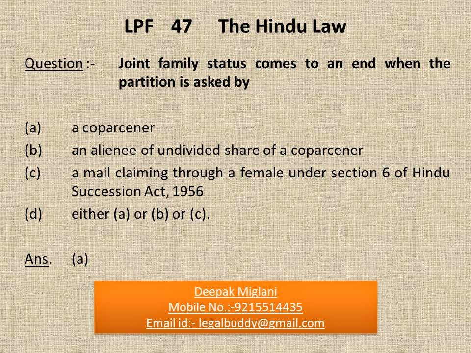 hindu succession act section 6